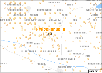 map of Mehr Khānwāla
