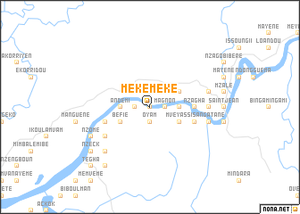 map of Meke-Meke
