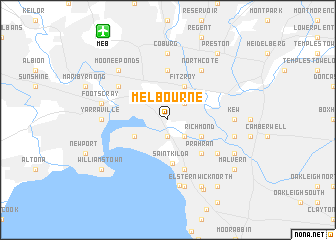 Melbourne Australia Map Nona Net