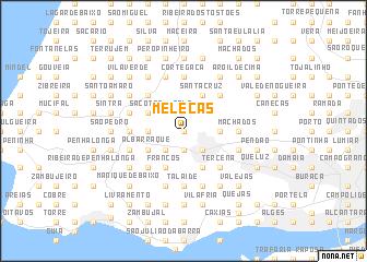 map of Meleças