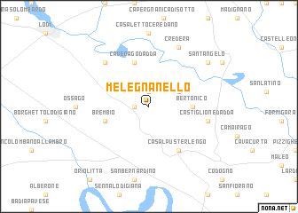 map of Melegnanello