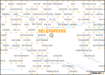 map of Melendreros