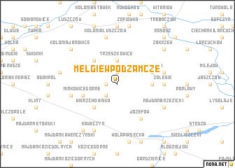 map of Mełgiew Podzamcze