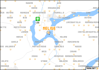 map of Melide