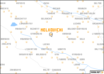 map of Melkovichi