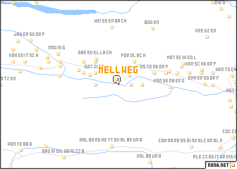 map of Mellweg