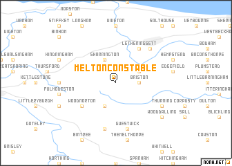 map of Melton Constable