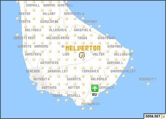 map of Melverton