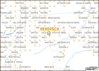 map of Memersch