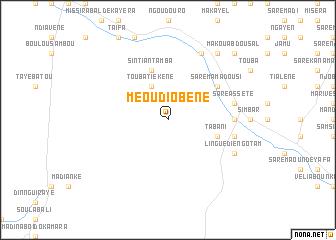 map of Méou Diobène