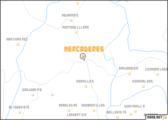map of Mercaderes