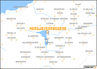 map of Merdjaz Erraguene