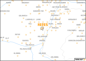 map of Meres