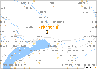 map of Mergoscia