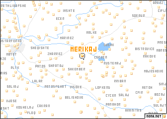 map of Merikaj
