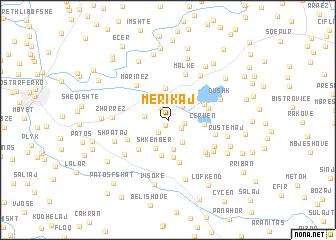 map of Merikaj