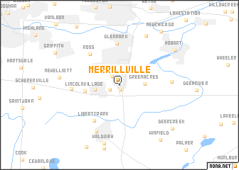 map of Merrillville