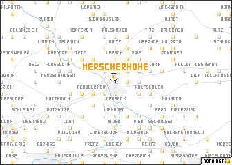map of Merscherhöhe