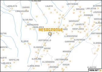 map of Mesa Grande
