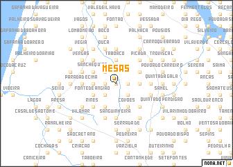 map of Mesas