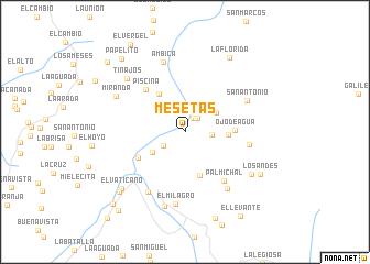 map of Mesetas