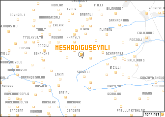 map of Meshadiguseynli