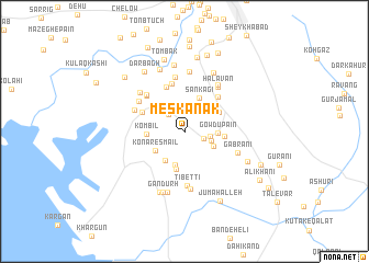 map of Meskanak
