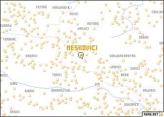 map of Meškovići