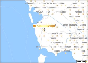 map of Mesokhórion