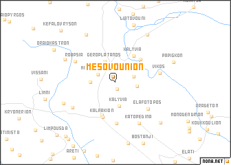 map of Mesovoúnion