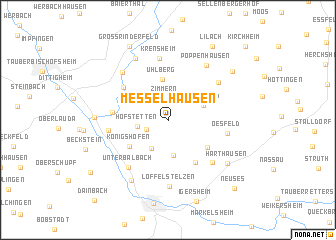 map of Messelhausen