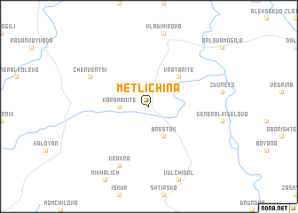 map of Metlichina