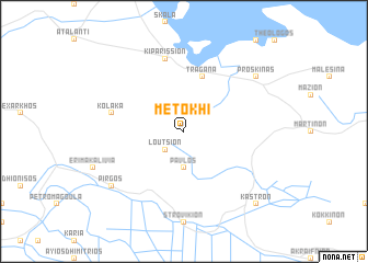 map of Metókhi