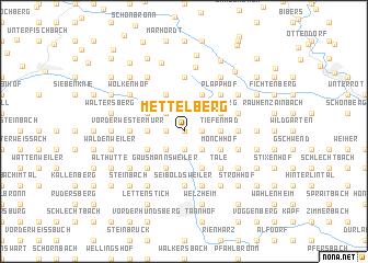 map of Mettelberg