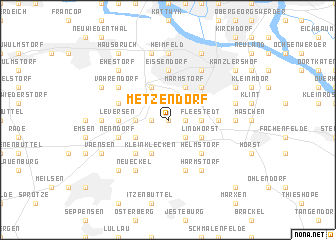 map of Metzendorf