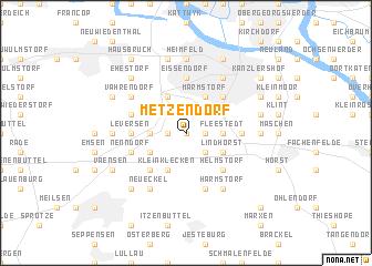 map of Metzendorf