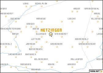 map of Metzingen