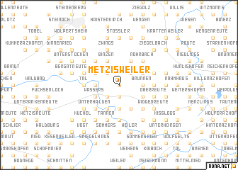 map of Metzisweiler