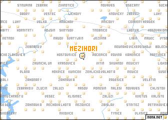 map of Mezihoří