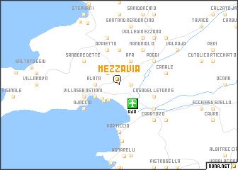 Mezzavia France Map
