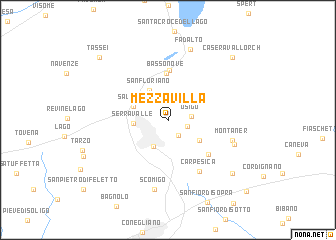 map of Mezzavilla