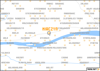 map of Miączyn