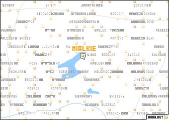 map of Miałkie