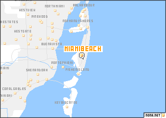 Miami Beach United States USA map nonanet