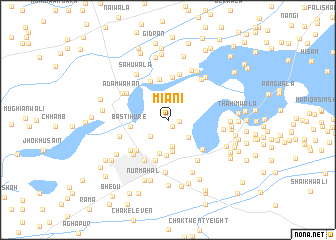 map of Miāni