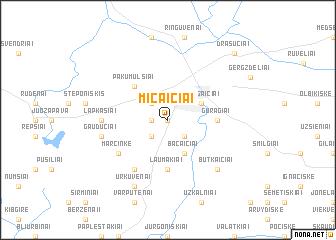 map of Micaičiai