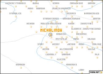 map of Michalinów
