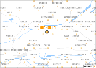 map of Michalin