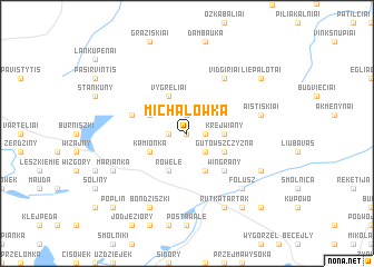 map of Michałówka