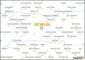 map of Michałów